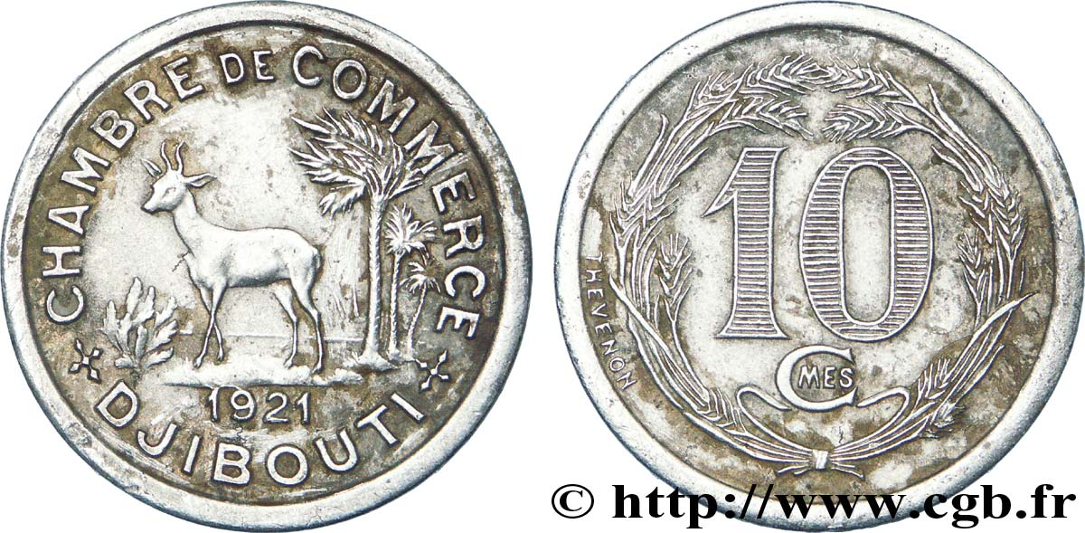 french somaliland 10 centimes chambre de commerce de