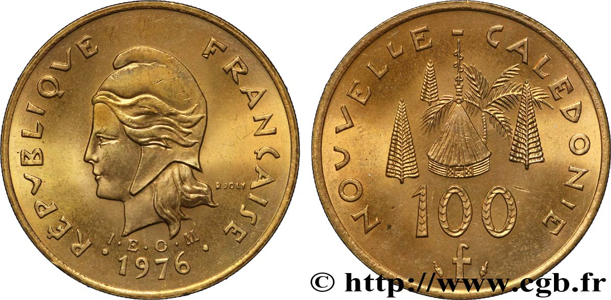 NEW CALEDONIA 100 Francs IEOM 1976 Paris