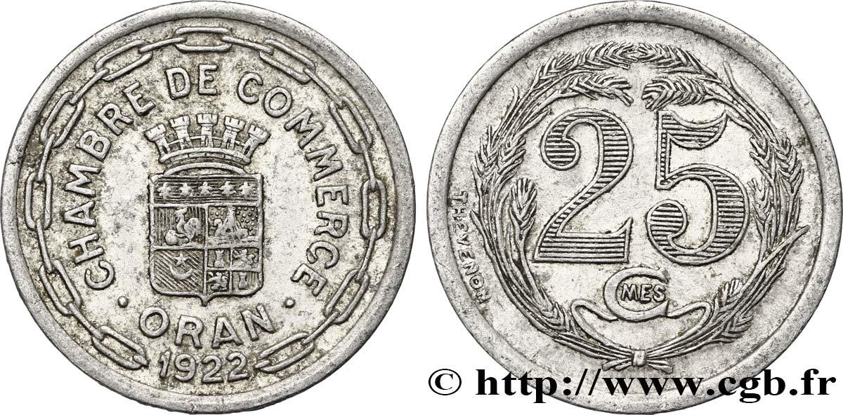 Algeria 25 centimes chambre de commerce d oran 1922 au fco for Chambre de commerce algerienne