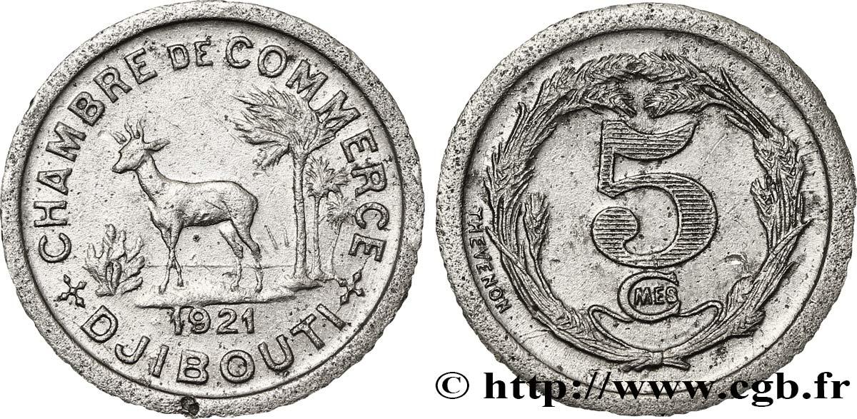 Djibouti 5 centimes chambre de commerce de djibouti 1921 for Chambre de commerce djibouti