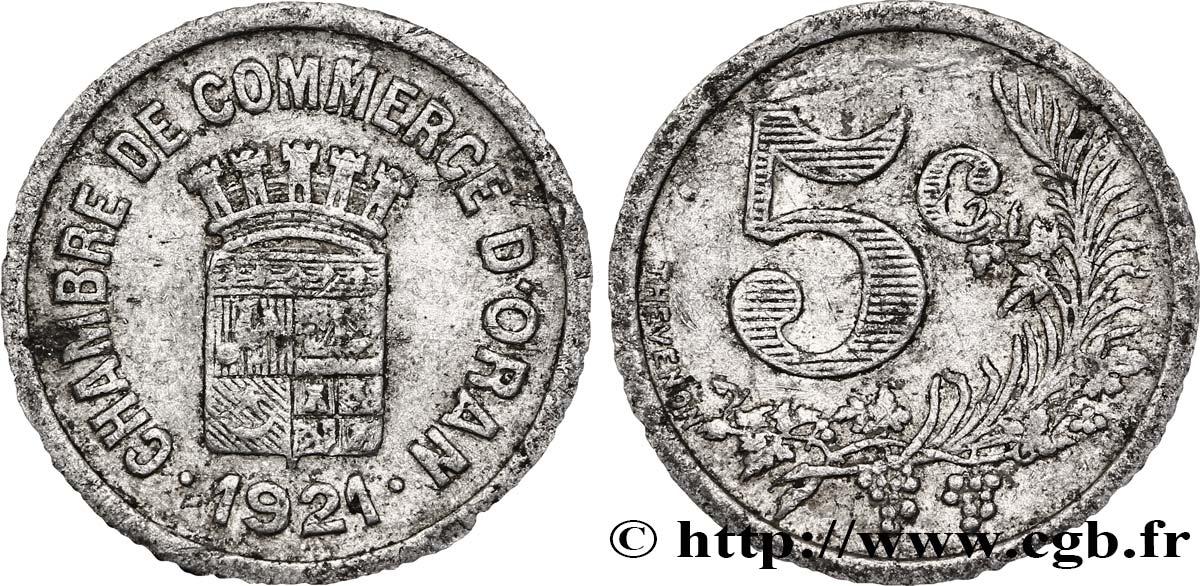 Algeria 5 centimes chambre de commerce d oran 1921 fco for Chambre de commerce algerienne