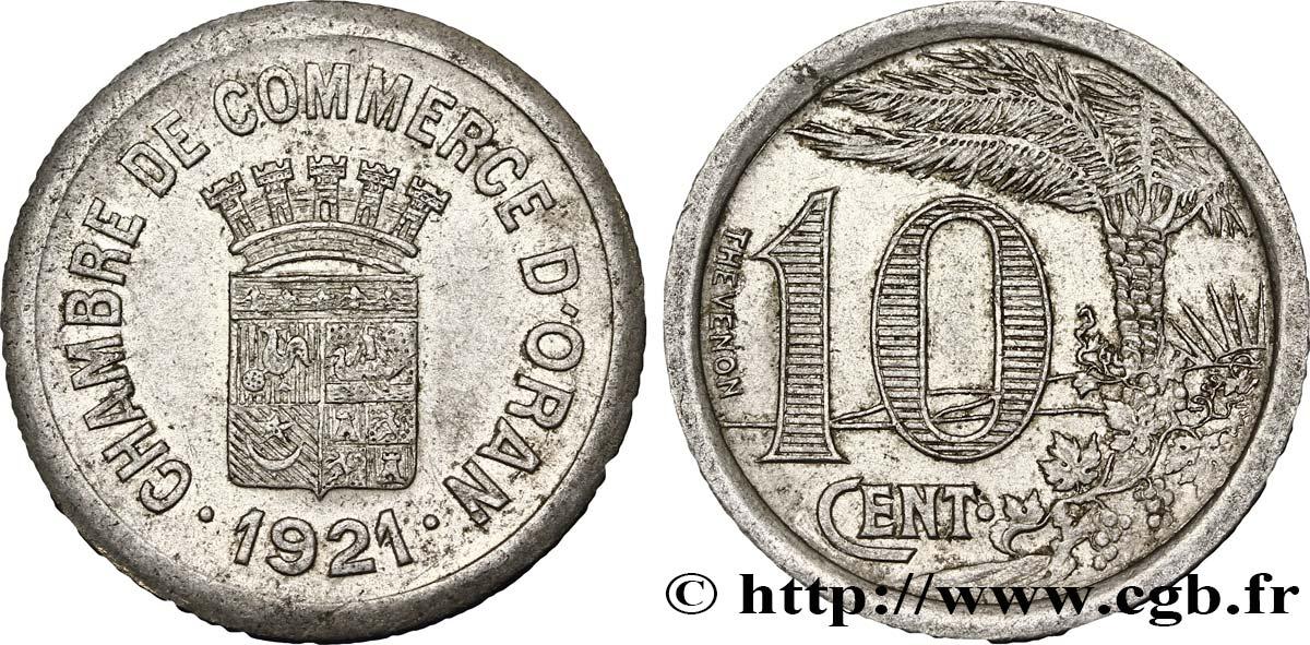 Algeria 10 centimes chambre de commerce d oran 1921 xf fco for Chambre de commerce algerienne