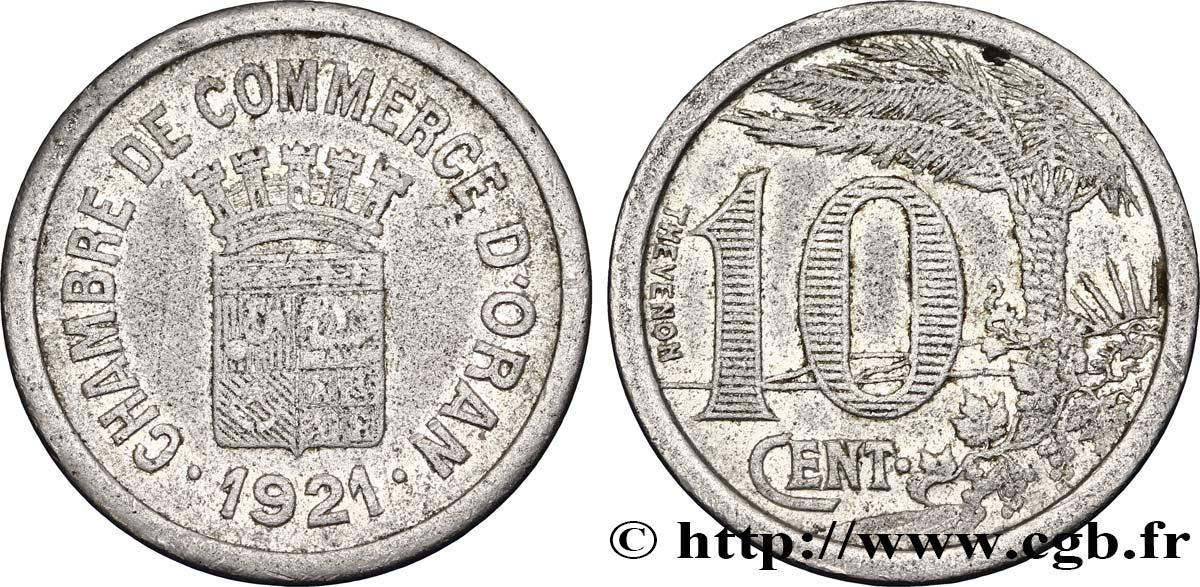 Alg rie 10 centimes chambre de commerce d oran 1921 tb for Chambre de commerce algerie