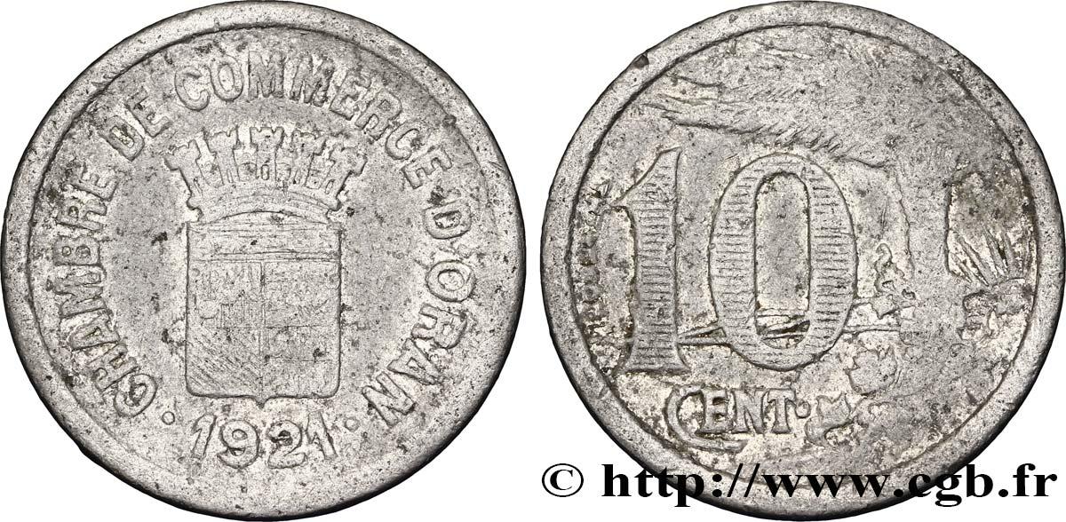 Alg rie 10 centimes chambre de commerce d oran 1921 fco for Chambre de commerce algerienne