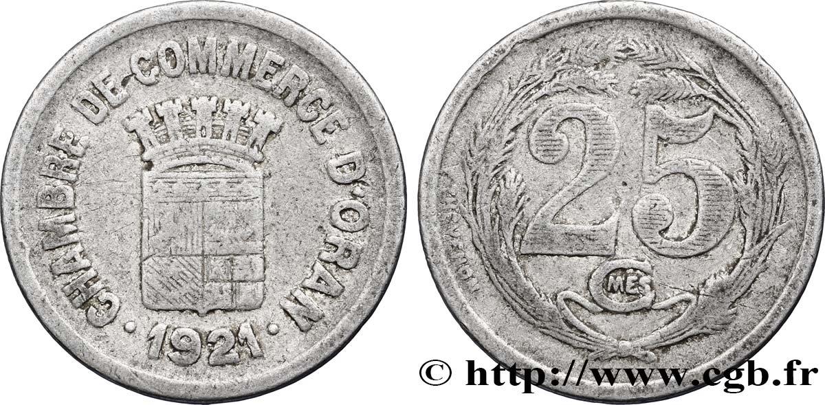 Alg rie 25 centimes chambre de commerce d oran 1921 tb fco for Chambre de commerce algerienne