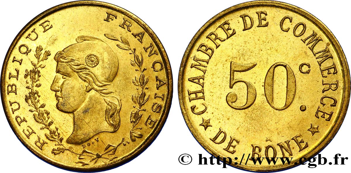 Algeria 50 centimes chambre de commerce de b ne alg rie for Chambre de commerce algerienne