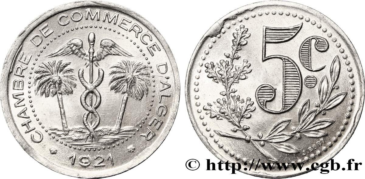 Algerien 5 centimes chambre de commerce d alger 1921 fco for Chambre de commerce algerienne