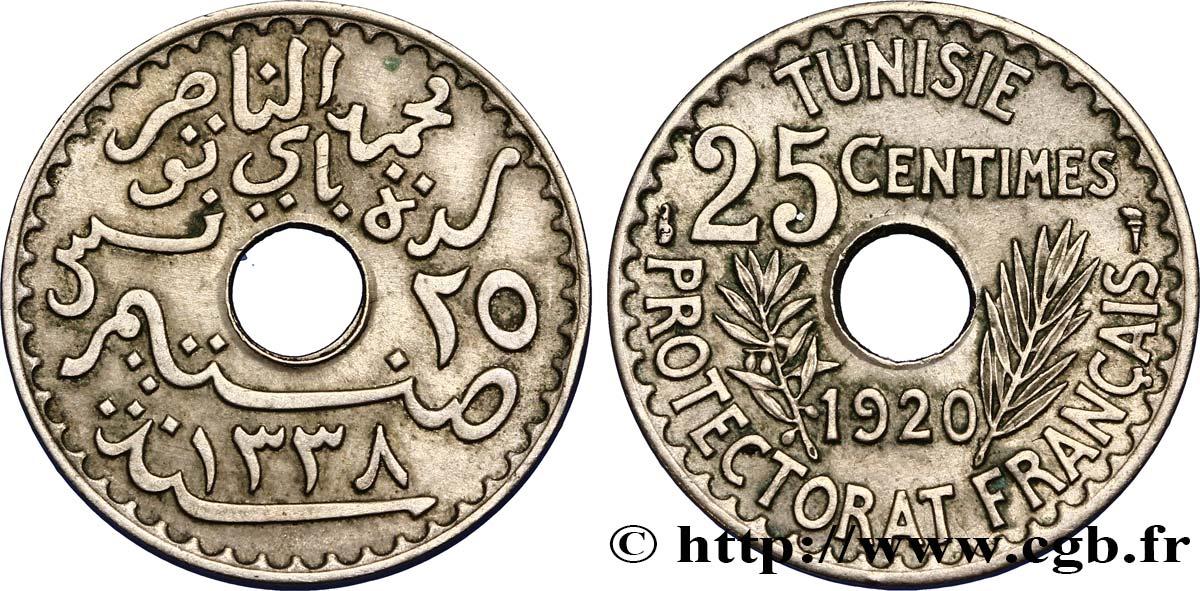 etat TUNISIE  TUNISIA  25 centimes 1920