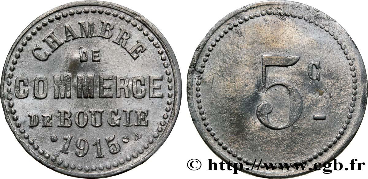 Alg rie 5 centimes chambre de commerce de bougie 1915 sup for Chambre de commerce algerienne
