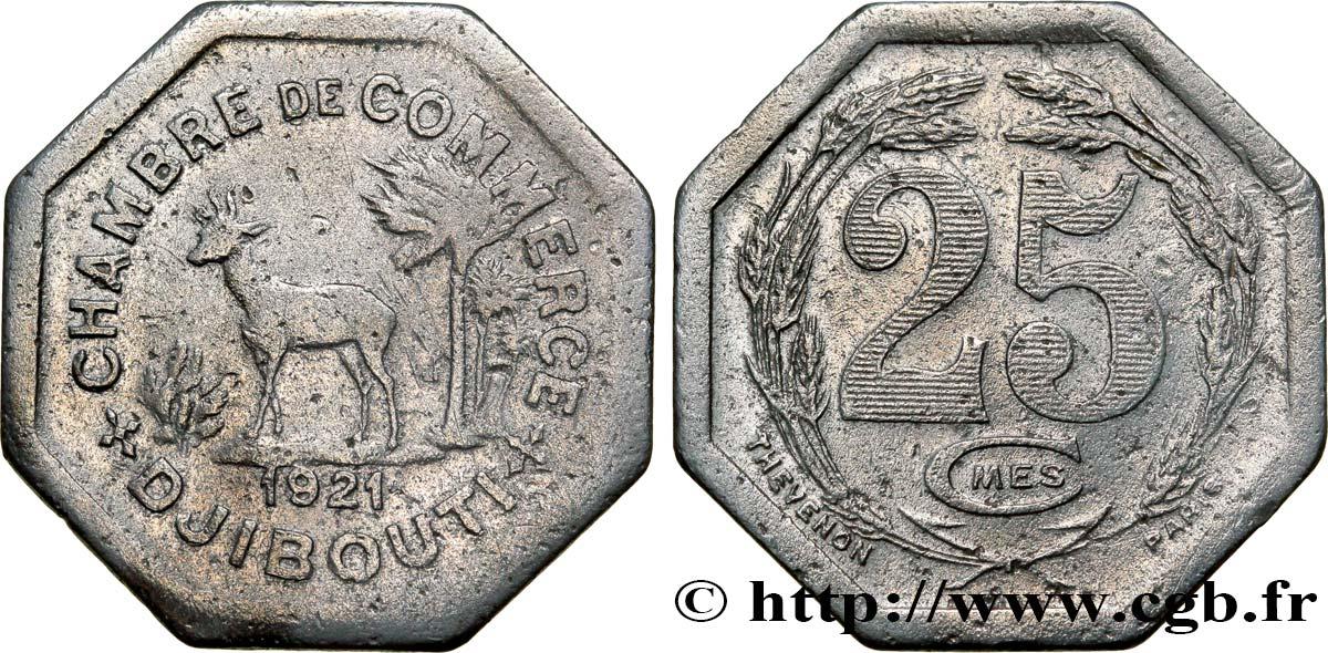 Djibouti 25 centimes chambre de commerce de djibouti 1921 for Chambre de commerce djibouti