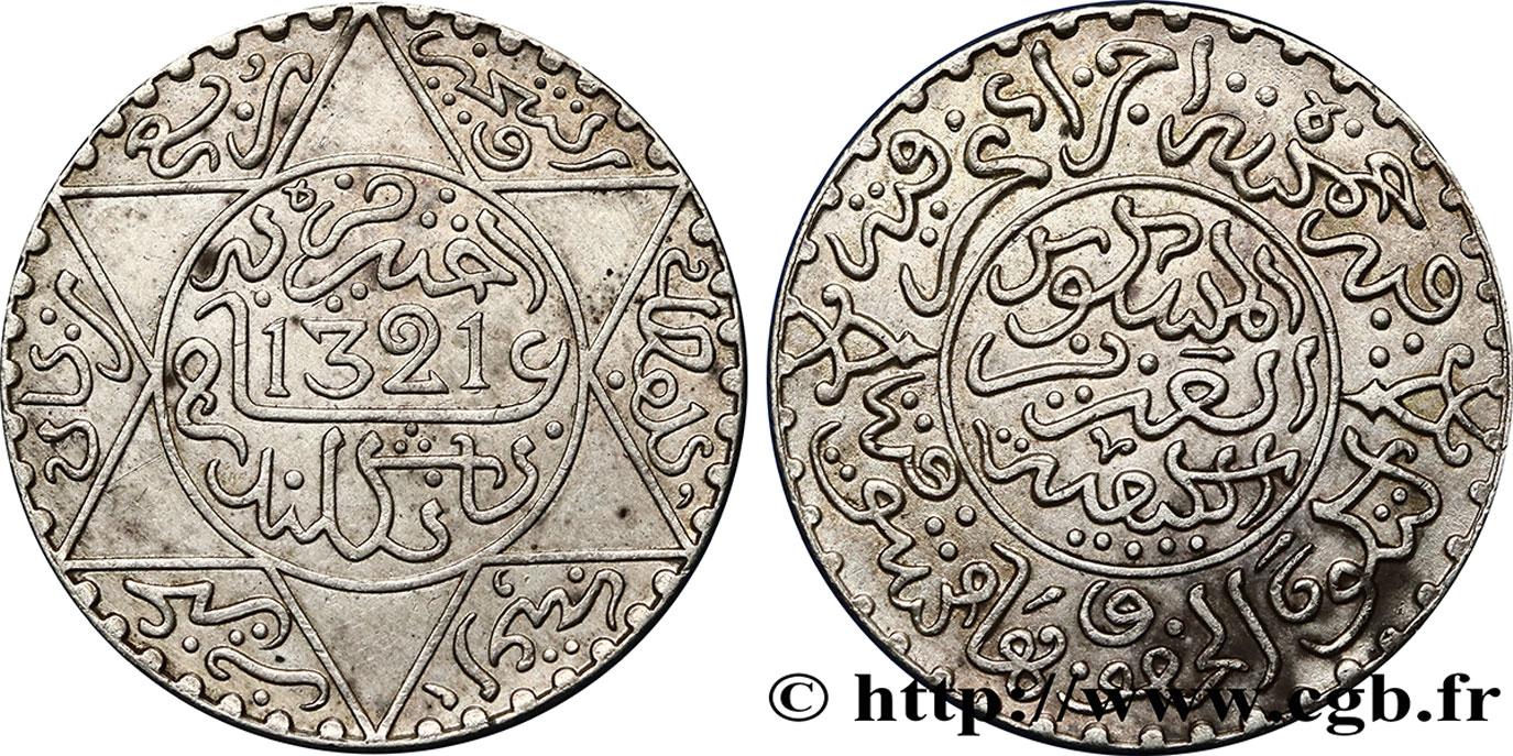 fco_387649 - MOROCCO 2 1/2 Dirhams Abdul Aziz I an 1321 1903 Londres