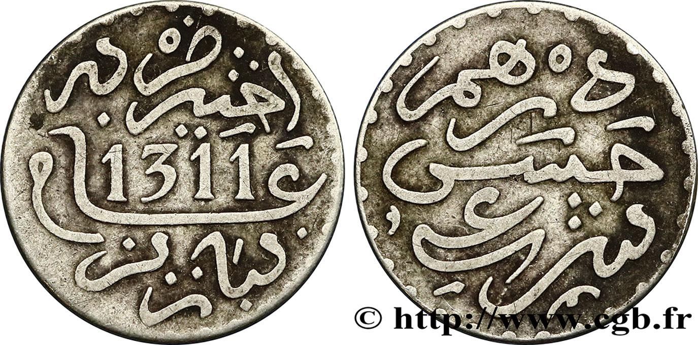 fco_387770 - MOROCCO 1 Dirham Hassan I an 1311 1893 Paris
