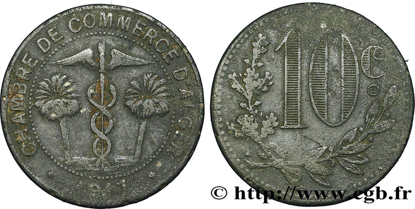 Alg rie 10 centimes chambre de commerce d alger 1917 tb for Chambre de commerce algerie