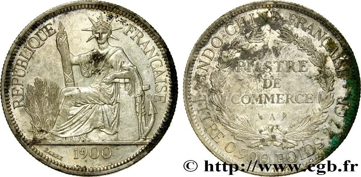 Französische Indochina 1 Piastre De Commerce 1900 Paris Fco414771