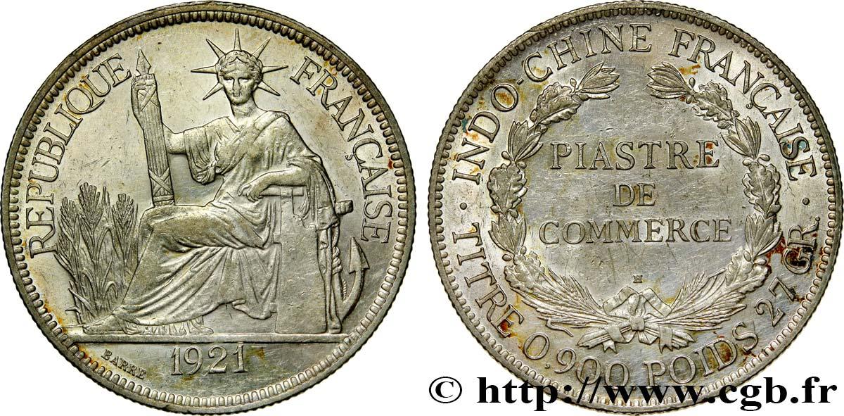 Französische Indochina 1 Piastre De Commerce 1921 Heaton Fco414902