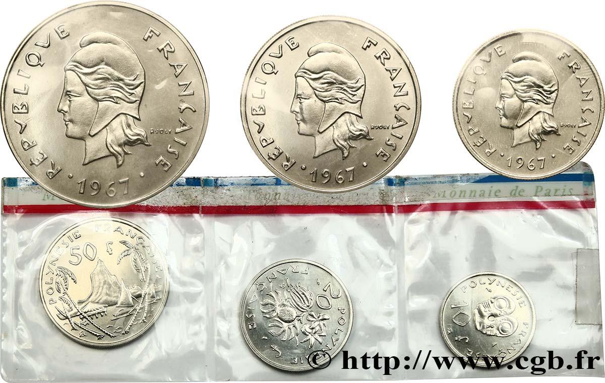 franz sische polynesien s rie fleurs de coins de 3 monnaies 1967 paris fco 451662 kolonial m nzen. Black Bedroom Furniture Sets. Home Design Ideas