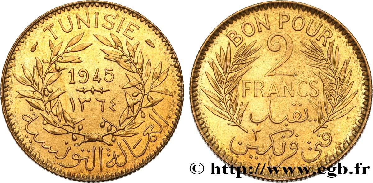 Tunisia French Protectorate Bon Pour 2 Francs Sans Le Nom