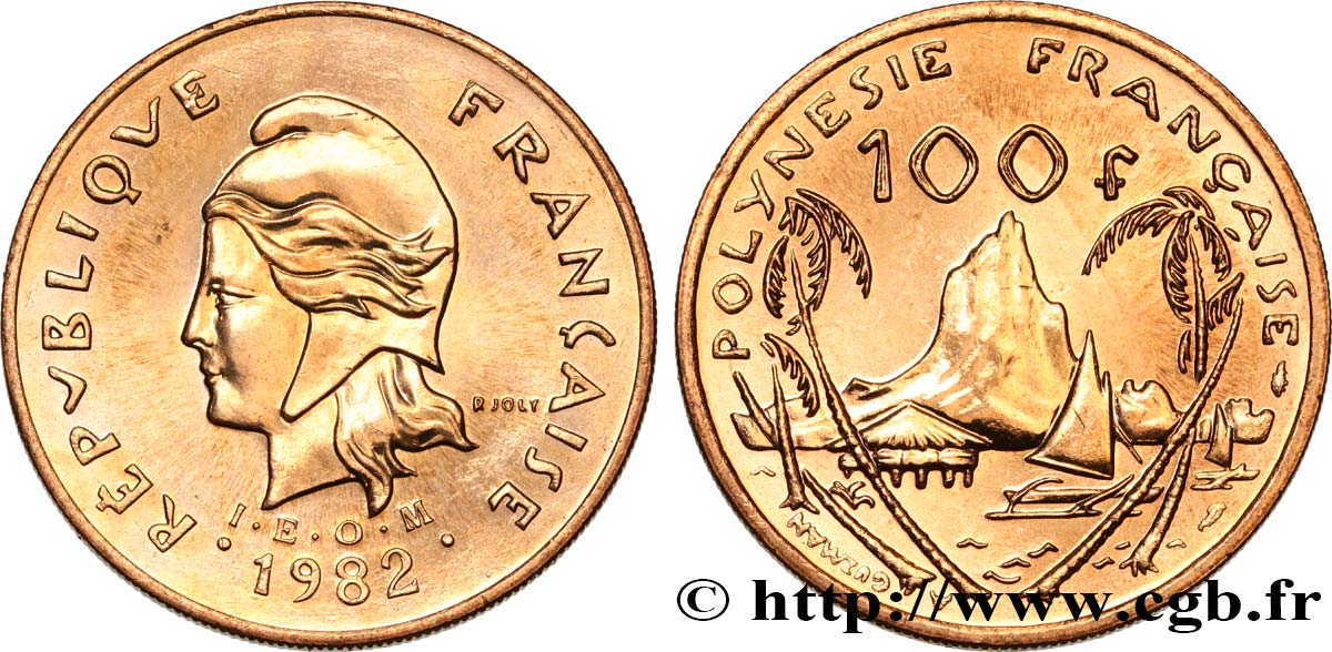 FRENCH POLYNESIA 100 Francs I.E.O.M. 1982 Paris MS