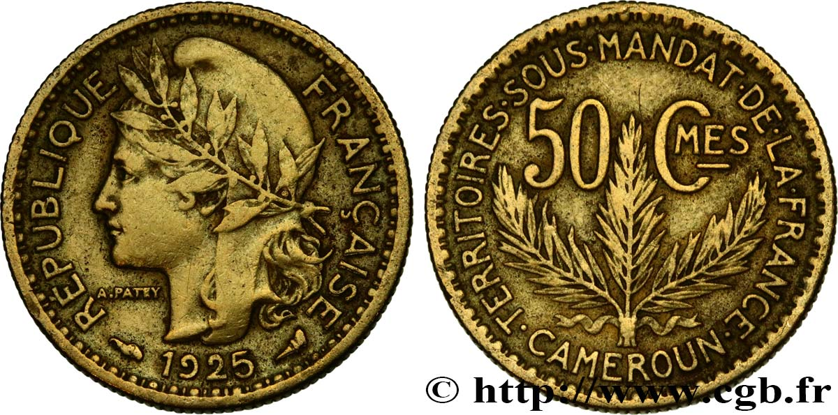 CAMEROON - TERRITORIES UNDER FRENCH MANDATE 50 Centimes 1925 Paris XF