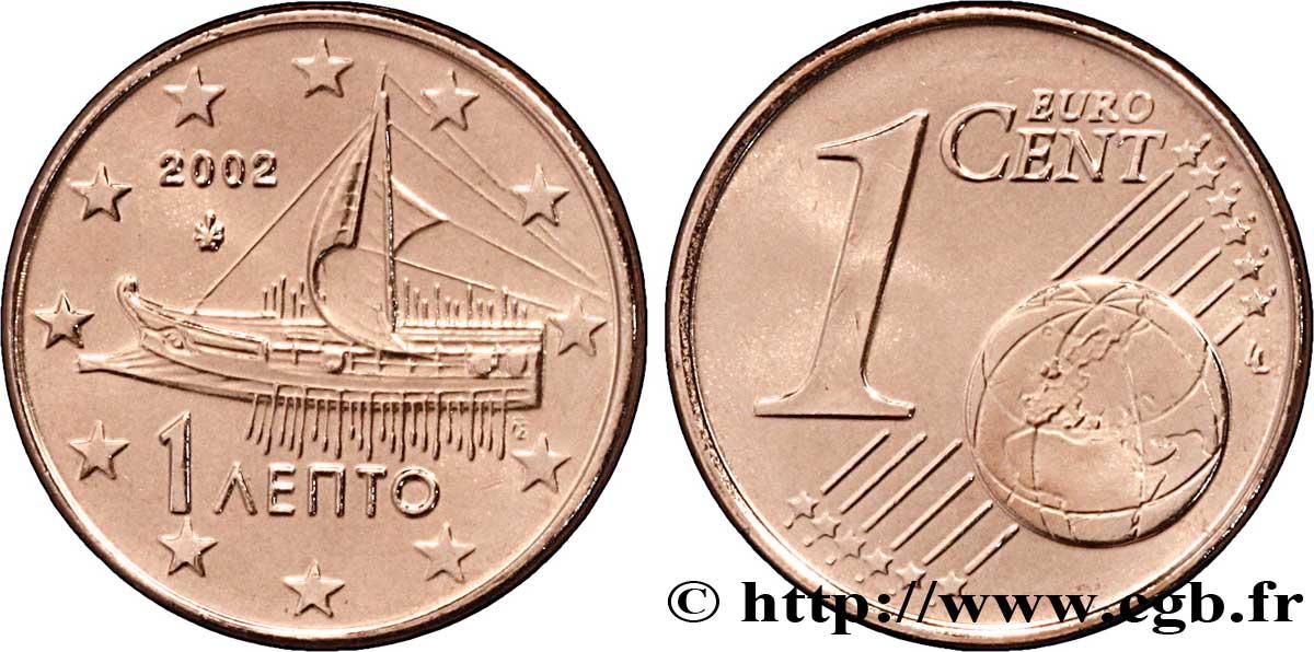 greece 1 cent trir me 2002 ath nes feu 098327 euro coins. Black Bedroom Furniture Sets. Home Design Ideas