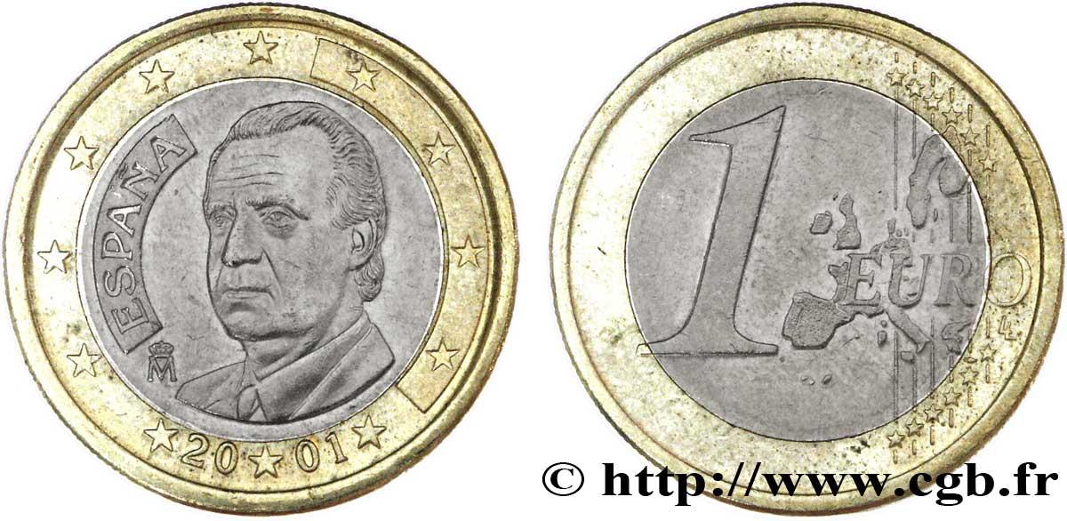 Spanien 1 Euro Juan Carlos I 2001 Madrid Feu099850 Euro Münzen