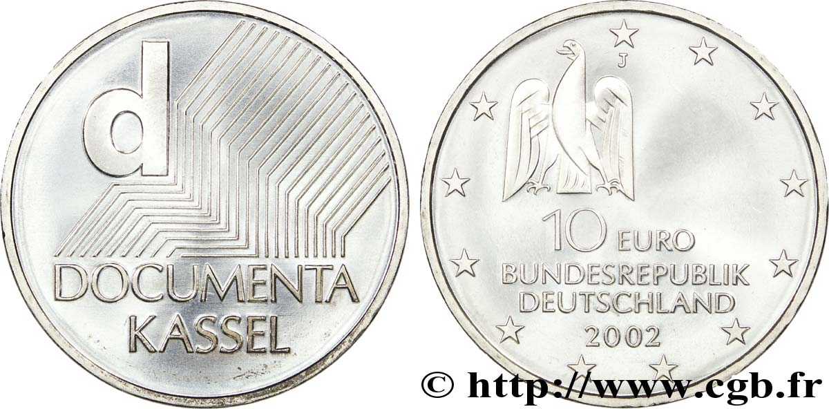 ALLEMAGNE 10 Euro DOCUMENTA KASSEL tranche A 2002 SPL63