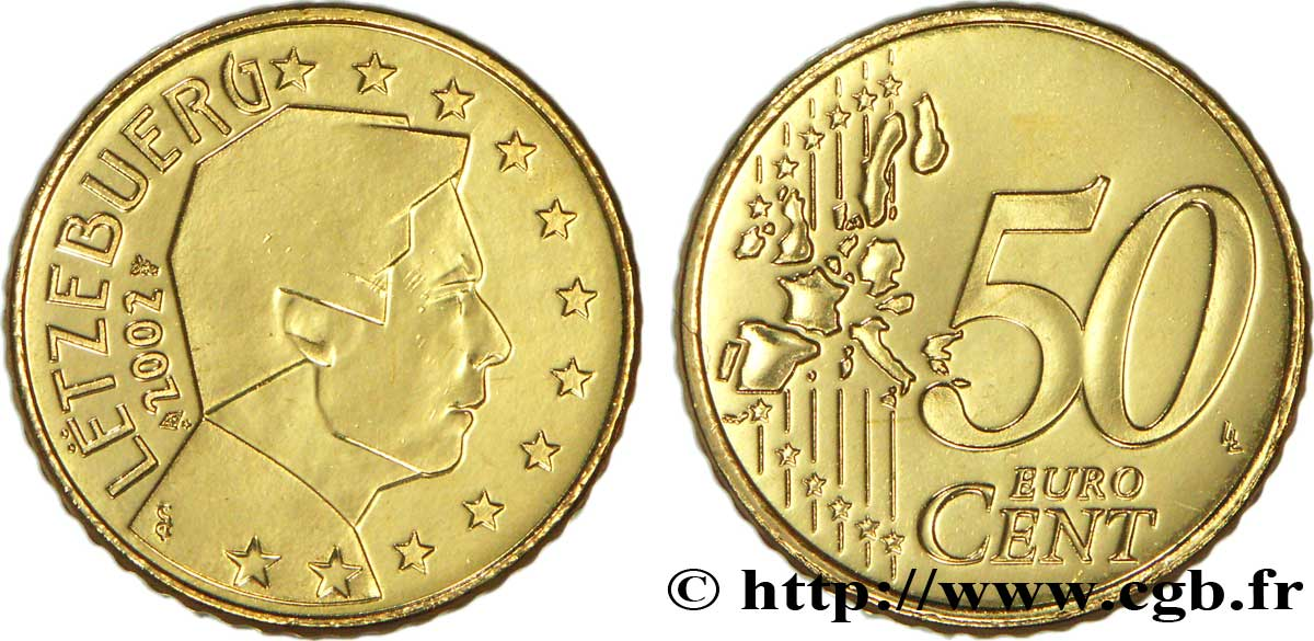 Luxemburg 50 Cent Grand Duc Henri 2002 Utrecht Feu103009 Euro Münzen