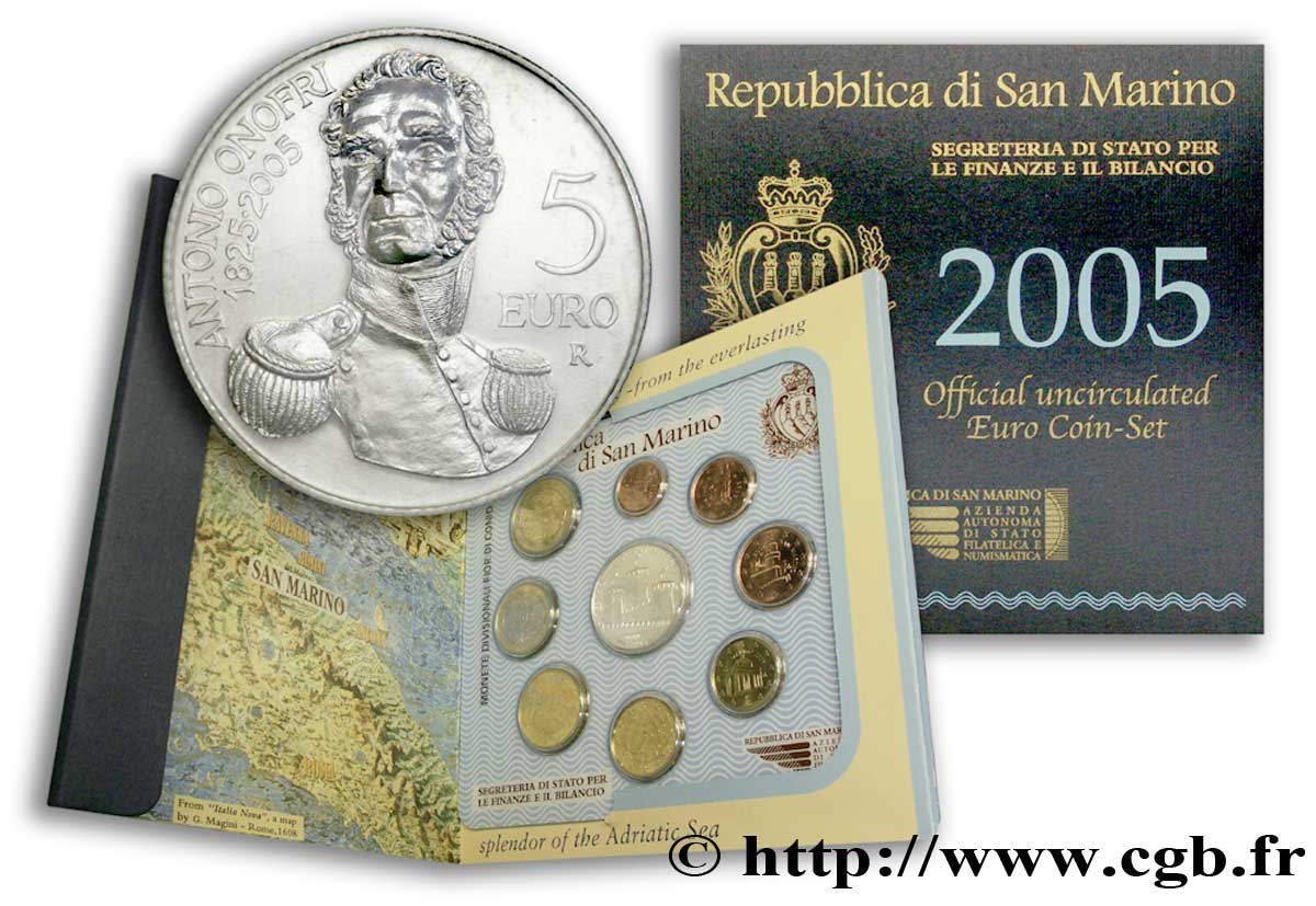 SAN MARINO SÉRIE Euro BRILLANT UNIVERSEL  2005 Brilliant Uncirculated