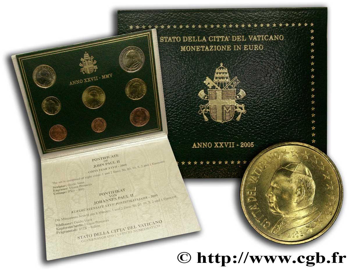 Vatican Série Euro Brillant Universel 2005 Rome Feu123628 Euros