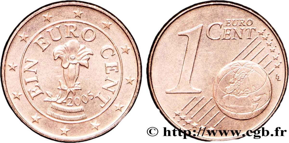 österreich 1 Cent Gentiane 2005 Vienne Feu129336 Euro Münzen