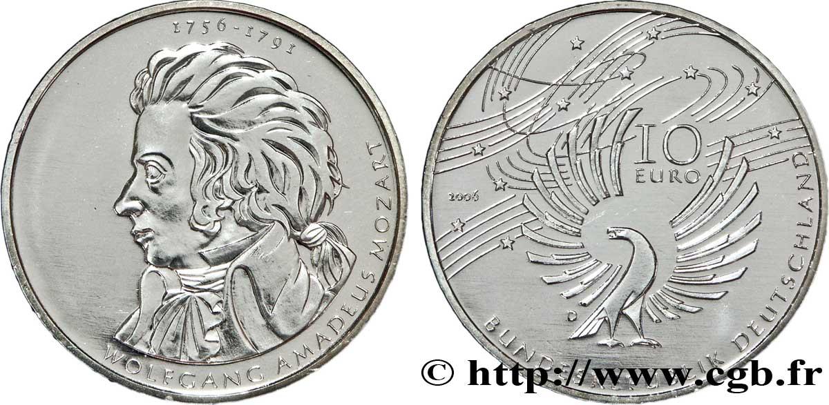 Deutschland 10 Euro 250e Anniversaire De La Naissance De Wolfgang