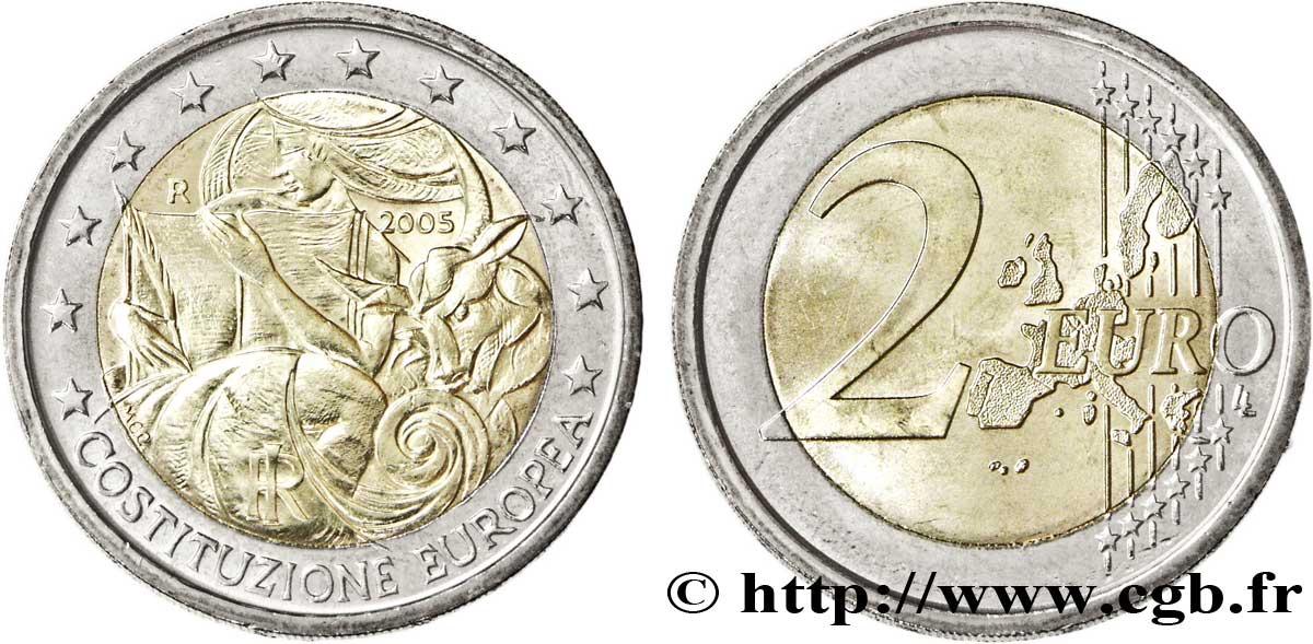 Italien 2 Euro Premier Anniversaire De La Signature De La