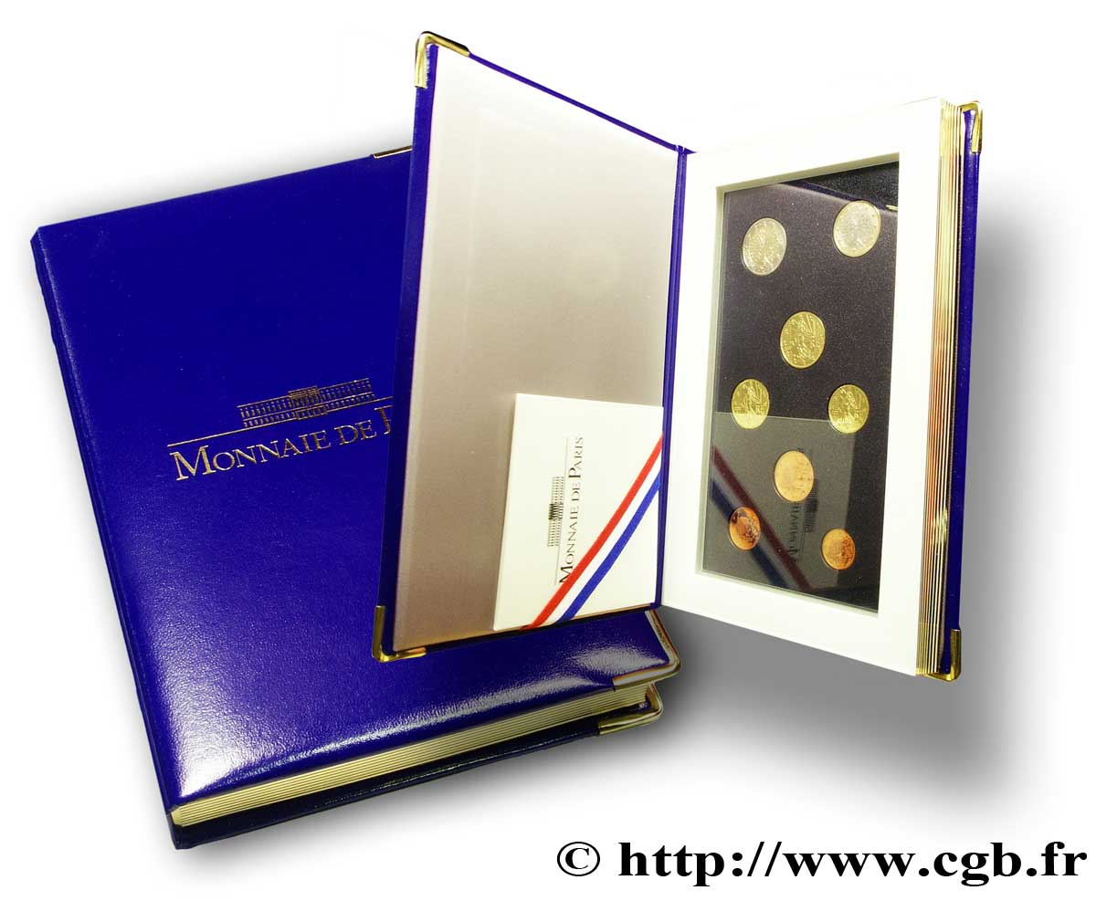FRANCE COFFRET Euro BELLE ÉPREUVE 2001 BE