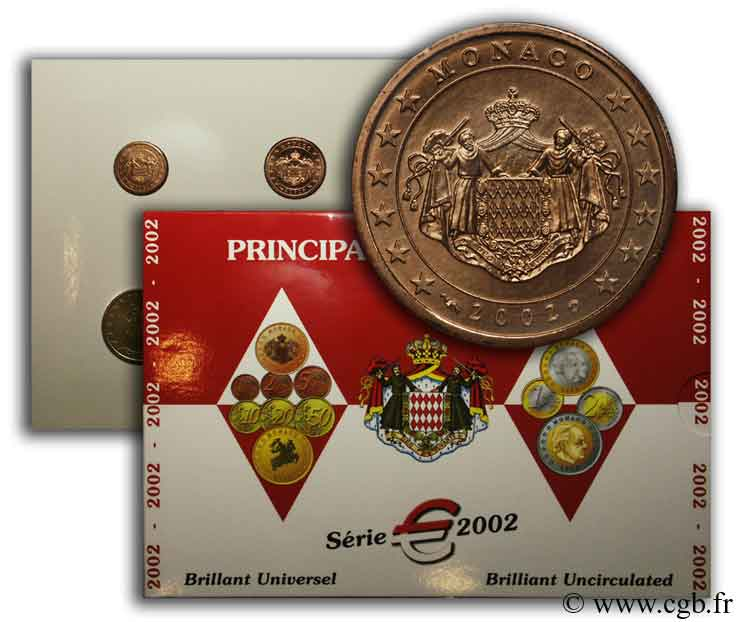 MONACO SÉRIE Euro BRILLANT UNIVERSEL  2002 Brilliant Uncirculated