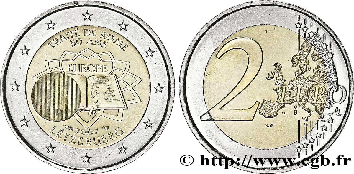 Luxemburg 2 Euro Cinquantenaire Du Traité De Rome 2007 Pessac