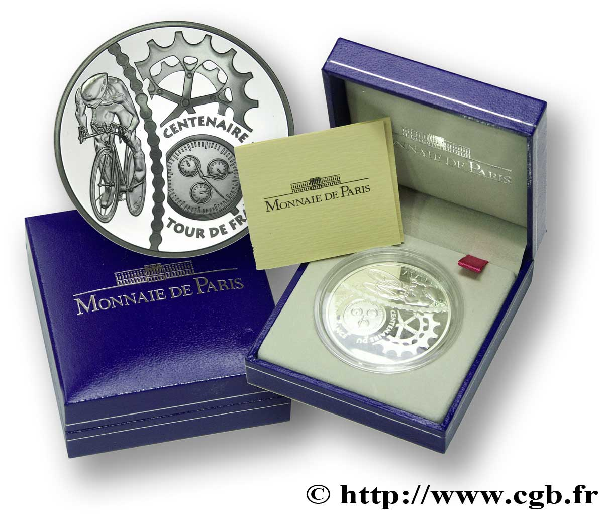 FRANCE Belle Épreuve 1 Euro 1/2 COURSE CONTRE LA MONTRE 2003 BE