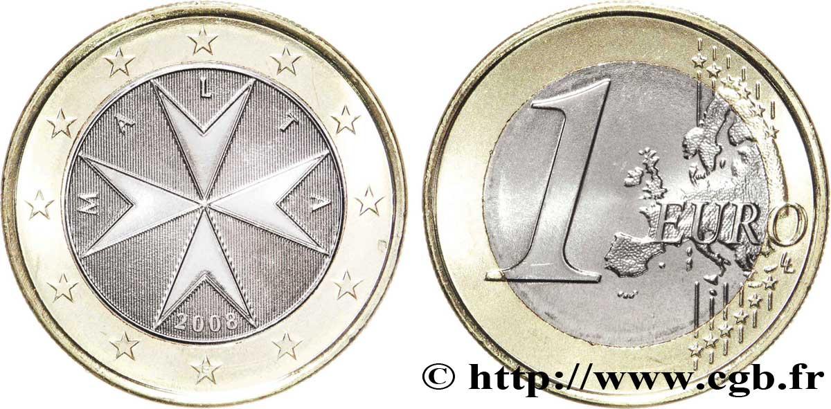 malte 1 euro croix de malte 2008 pessac spl63 feu 175941 euros. Black Bedroom Furniture Sets. Home Design Ideas