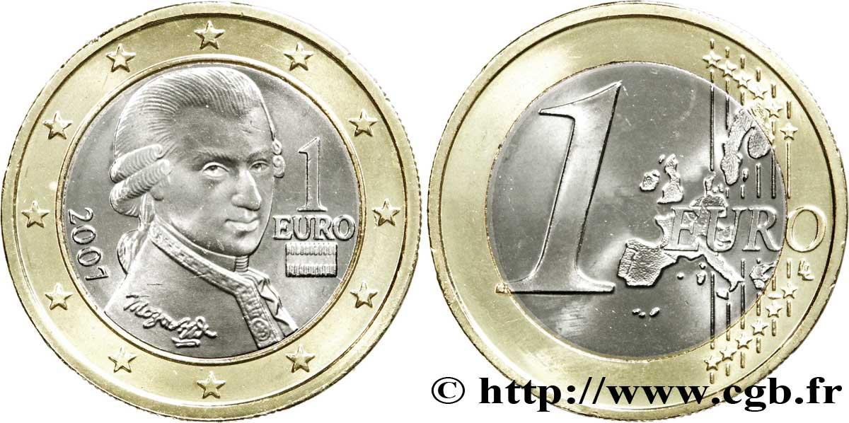 österreich 1 Euro Mozart 2007 Vienne Feu177661 Euro Münzen