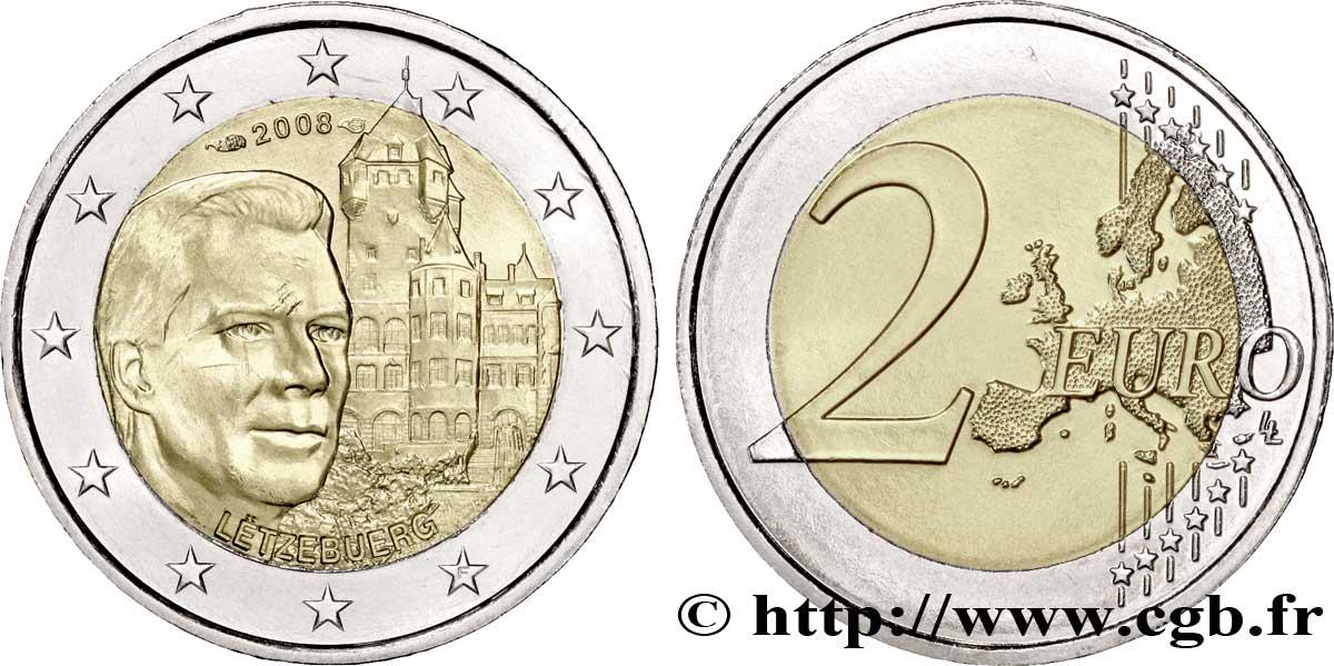 Luxemburg 2 Euro Château De Berg 2008 Pessac Feu178398 Euro Münzen