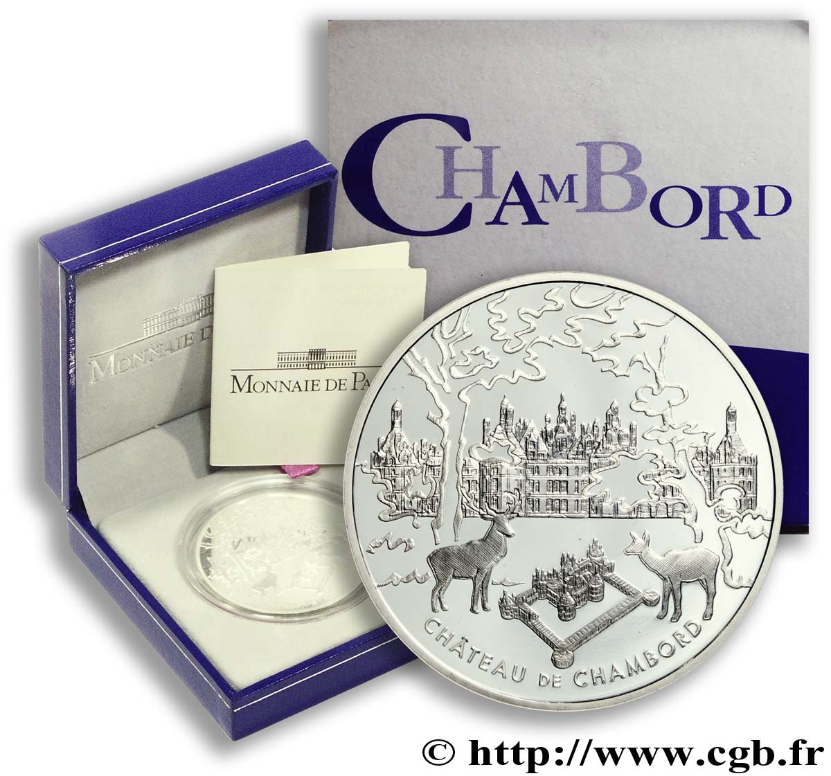 FRANCE Belle Épreuve 1 Euro 1/2 CHAMBORD  2003 BE