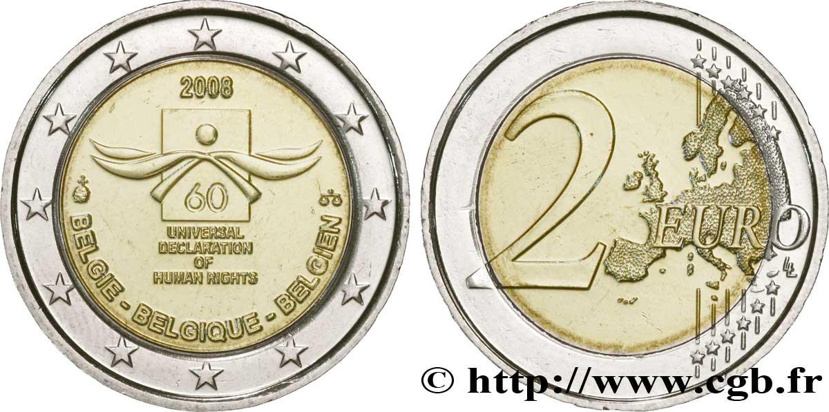 Belgien 2 Euro 60e Anniversaire De La Déclaration Universelle Des
