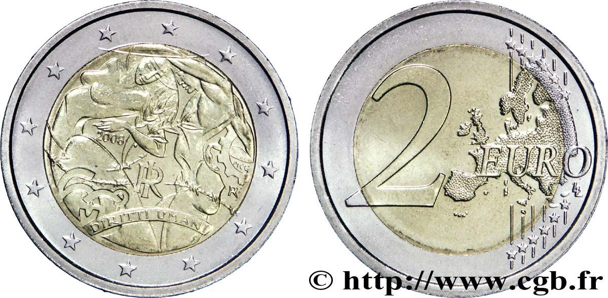 Italien 2 Euro 60e Anniversaire De La Déclaration Universelle Des