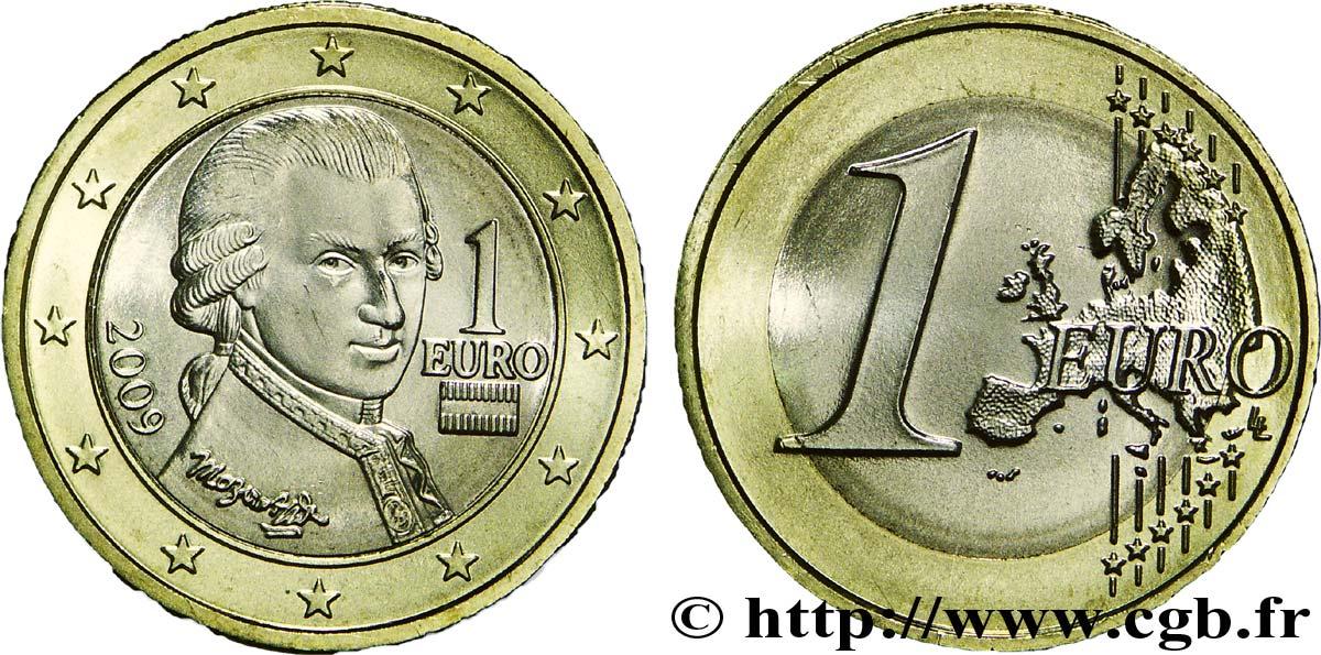 österreich 1 Euro Mozart 2009 Vienne Feu204620 Euro Münzen