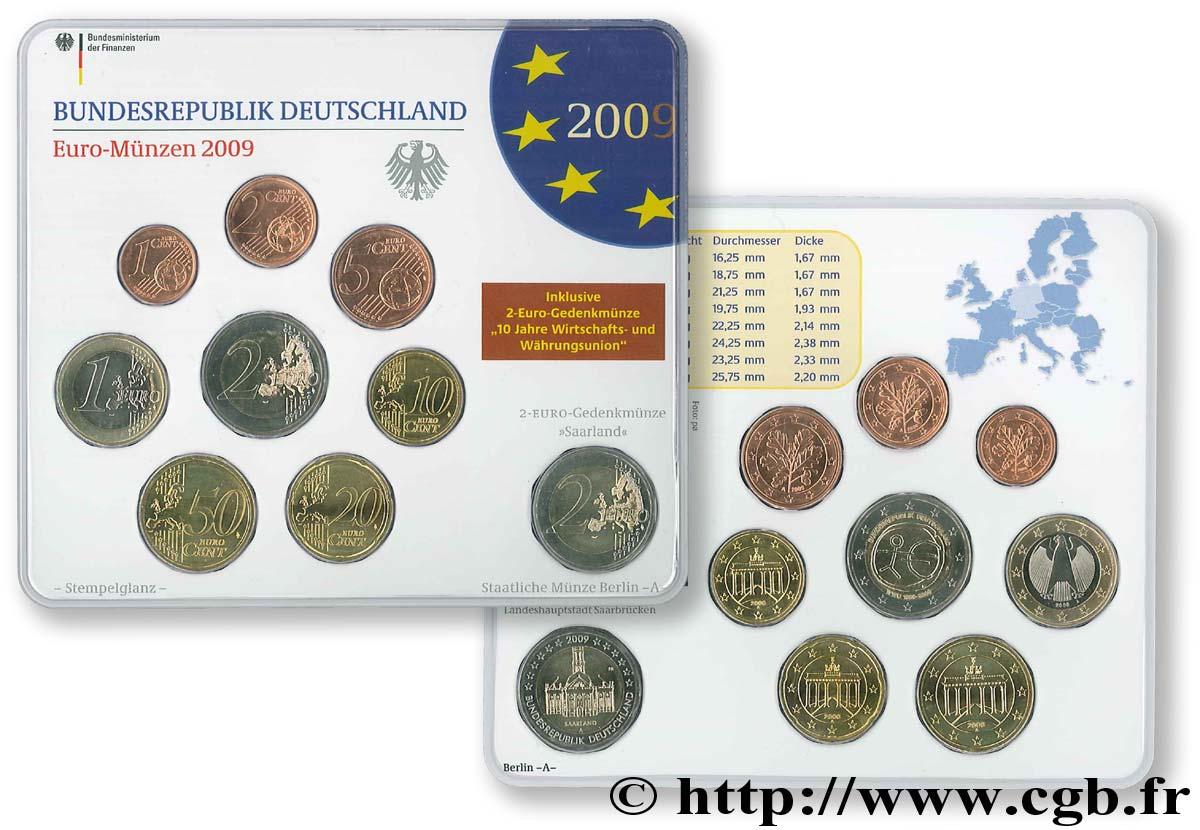 Allemagne Série Euro Fleur De Coin Berlin A 2009 Berlin A