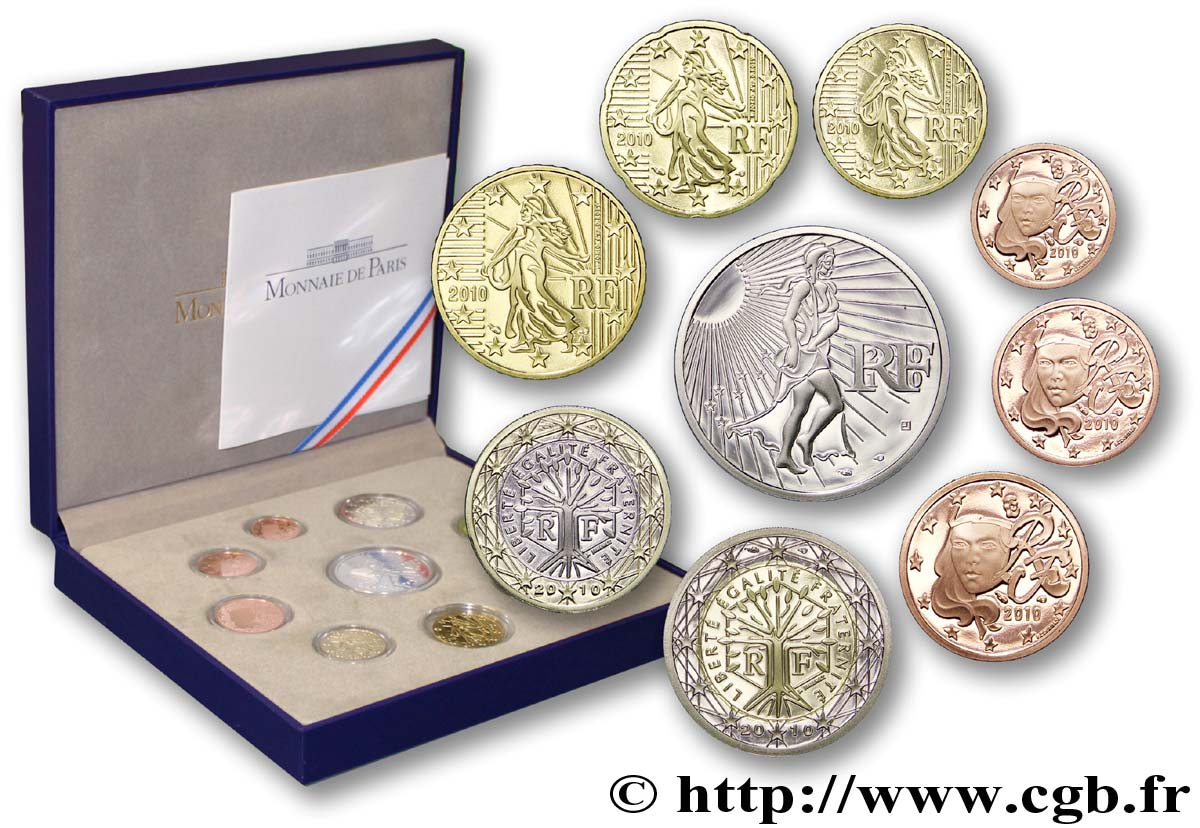 FRANCE COFFRET Euro BELLE ÉPREUVE 2010 BE