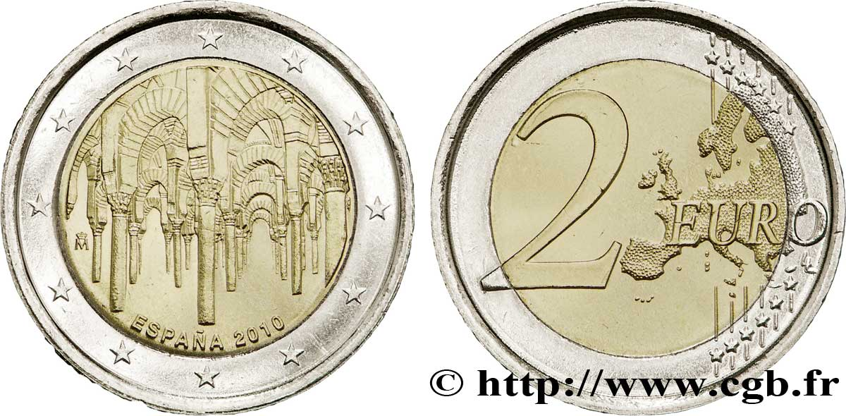Spanien 2 Euro Grande Mosquée De Cordoue 2010 Madrid Feu225242 Euro
