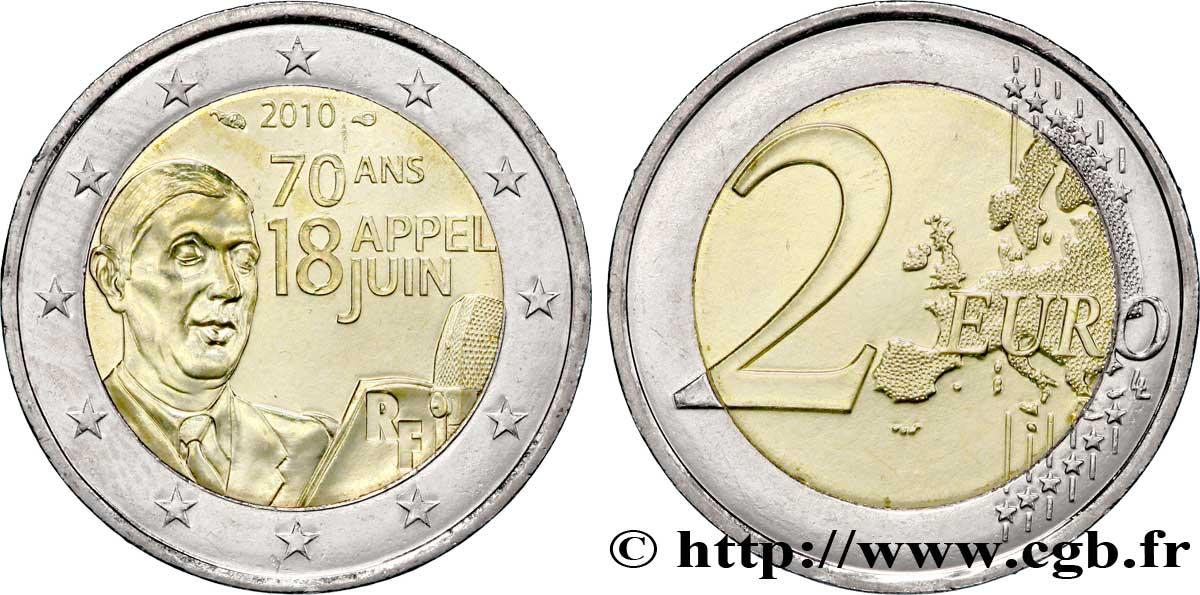 Frankreich 2 Euro 70ème Anniversaire De Lappel Du 18 Juin 1940
