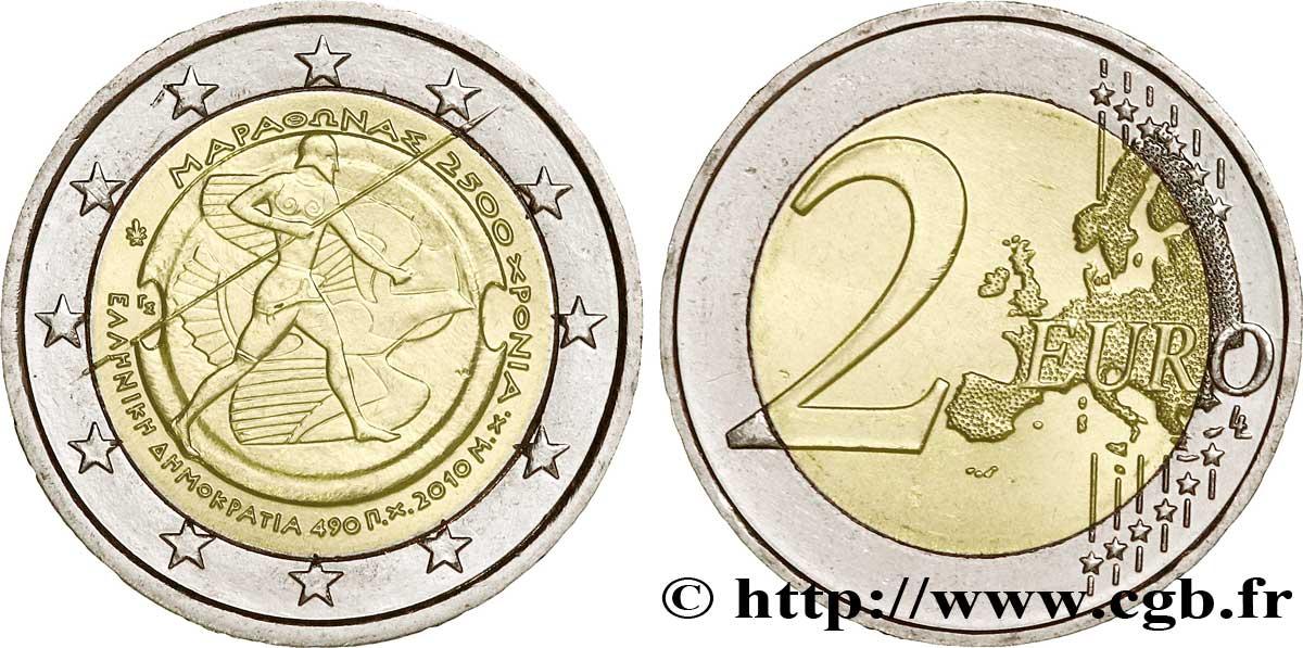 GRÈCE 2 Euro 2500ème ANNIVERSAIRE DE LA BATAILLE DE MARATHON tranche A 2010