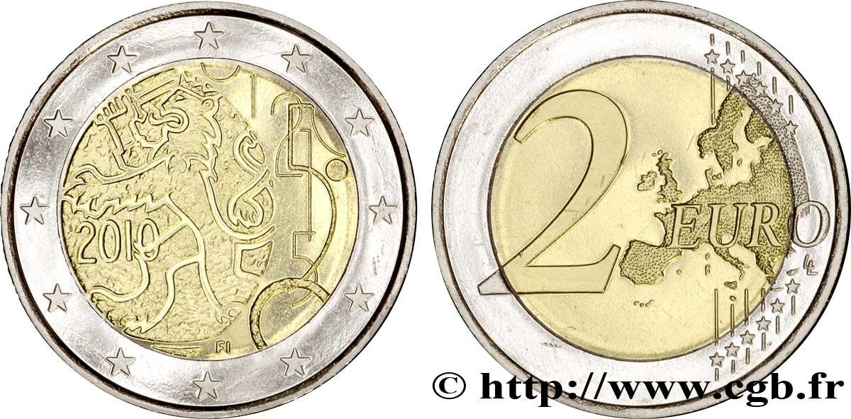 finlande 2 euro 150 ans de la monnaie finlandaise 2010 vanda feu 242329 euros. Black Bedroom Furniture Sets. Home Design Ideas