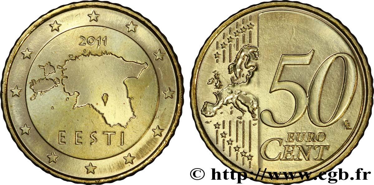 Estland 50 Cent Eesti 2011 Vanda Feu244655 Euro Münzen